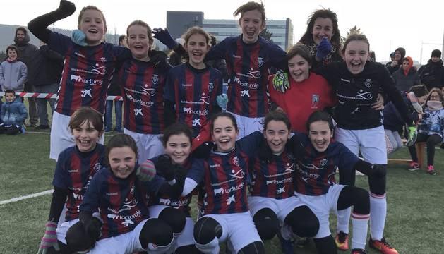 Las chicas de San Miguel Doneztebe, ganadoras del Interescolar femenino