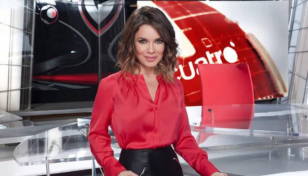 foto de La periodista Carme Chaparro, presentadora de los informativos de mediodía de Cuatro.