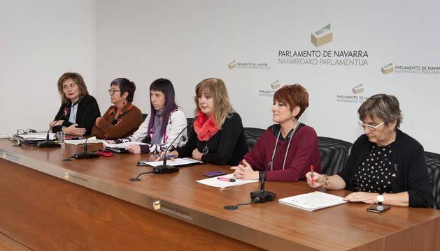 La consejera Ollo presenta en el Parlamento el proyecto de Ley Foral de Igualdad entre Mujeres y Hombres.