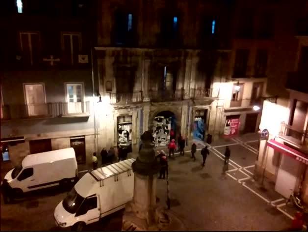 Policía Foral entra en el gaztetxe Maravillas