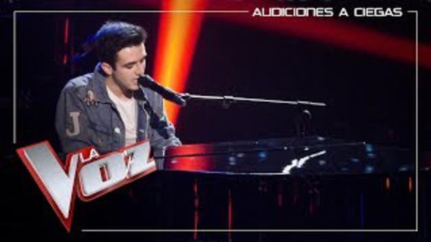 Actuación de Javier Erro en La Voz