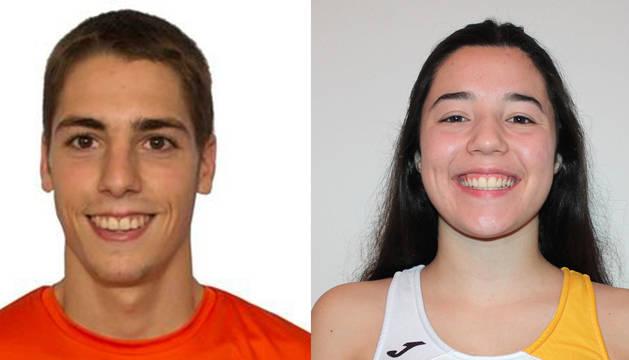 El futbolista Unai Martínez y la atleta María Cañardo.