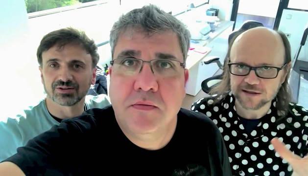 José Mota, Florentino Fernández y Santiago Segura.