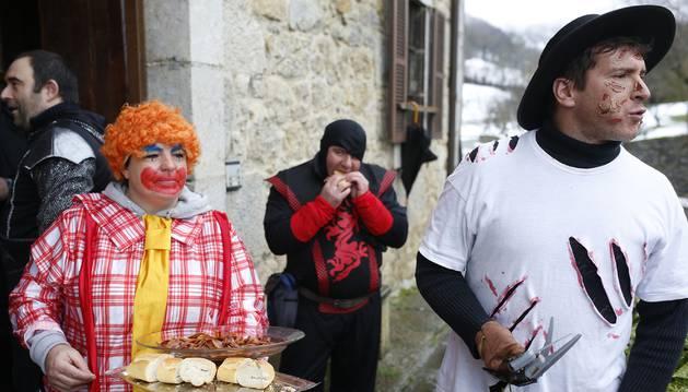 Participantes en el carnaval de Uitzi del pasado año.