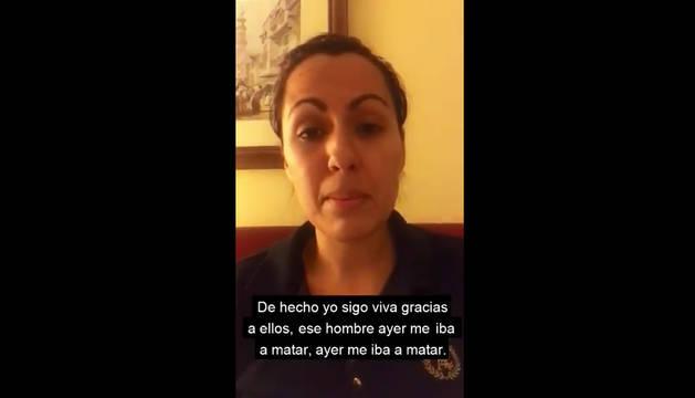 Farah, en el vídeo difundido en Twitter denunciando su situación.