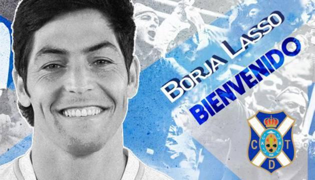 El exjugador de Osasuna Borja Lasso ficha por el Tenerife