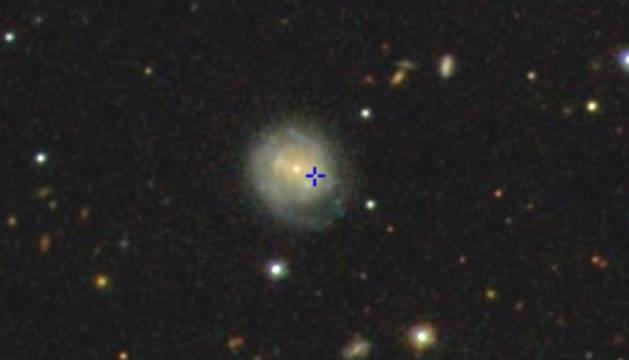 Imagen del evento cósmico  AT2018cow, conocido como 'la Vaca'.