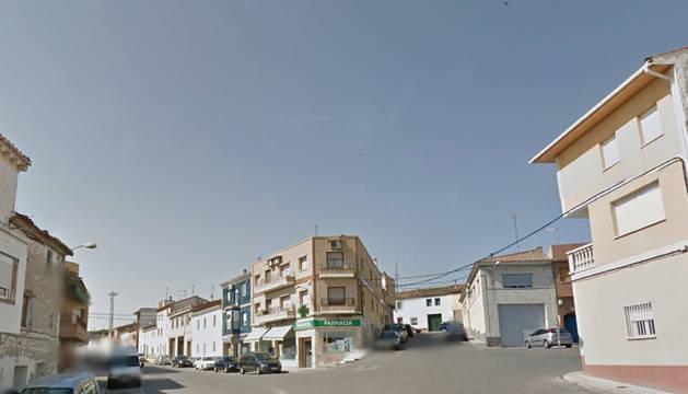 Una calle de Fuentes de Ebro, en Zaragoza.
