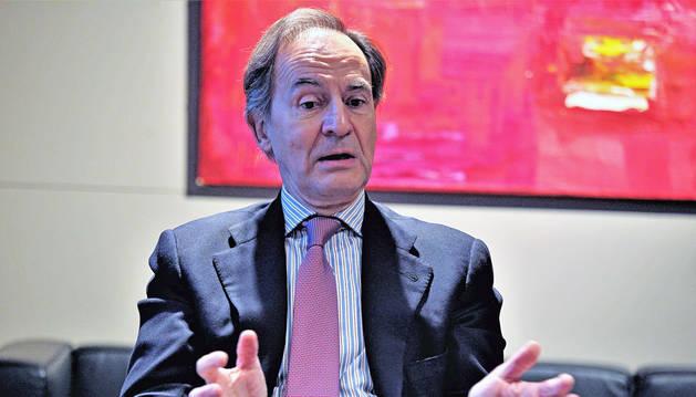 Javier Pascual del Amo, presidente para España y Latinoamérica de Condé Nast, grupo editorial de Vogue y Vanity Fair, entre otros, en la Cámara de Navarra de Comercio.