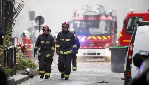 Explosión en una panadería en el centro de París