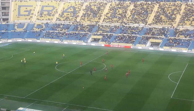 Vista general del encuentro en el estadio Gran Canaria.