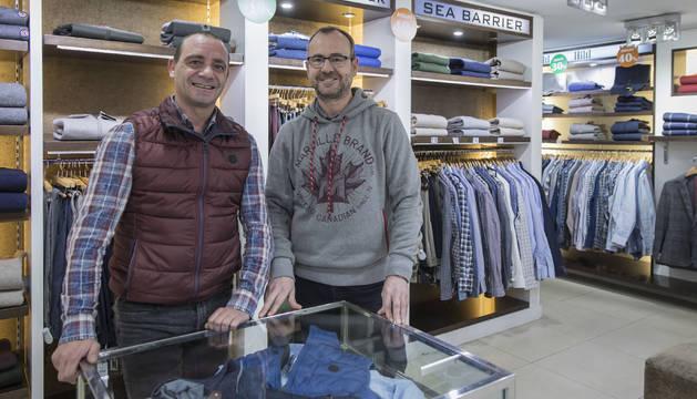 César Armendáriz Elso (izquierda) y Andrés Zarranz Elso, de Saboya.