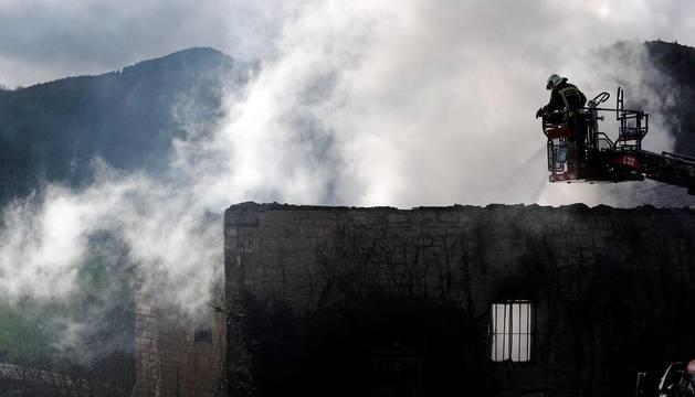 Incendio en una vivienda en Artaiz