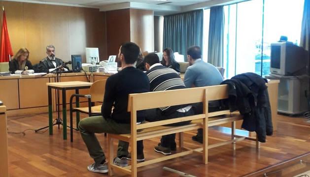 La 'manada' de Collado Villalba, en el juicio.