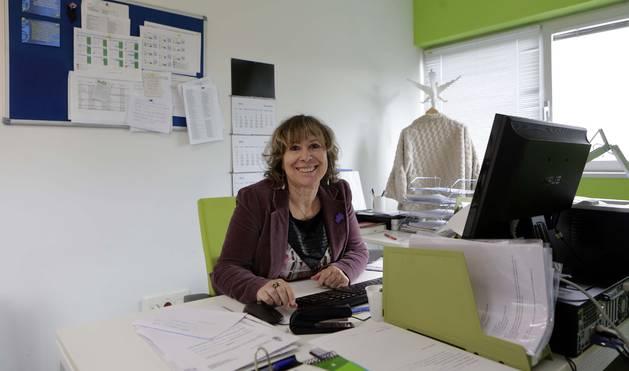Marigel Garciandía Albarova, la semana pasada en el que fue su despacho en el Ayuntamiento de Burlada, último destino.