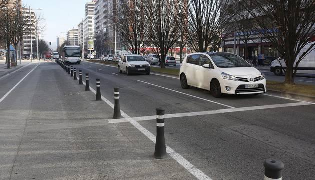 La avenida de los 500 bolardos en Pío XII.