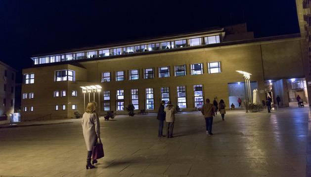 Imagen de la plaza de la Judería de Tudela.
