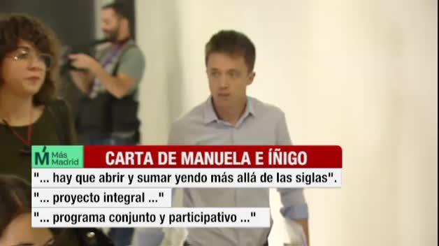 Errejón se presentará como candidato a la Comunidad bajo las siglas de Más Madrid