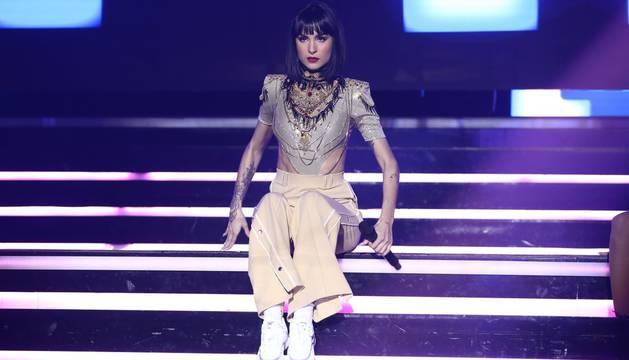foto de Natalia Lacunza, en su actuación de la gala de Eurovisión.