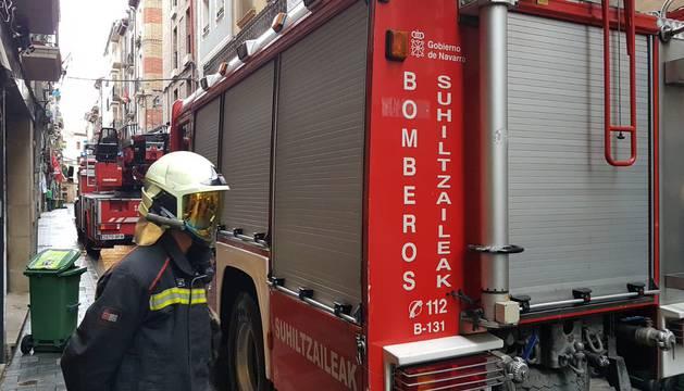 El incendio ha sido atendido por los Bomberos de Navarra.