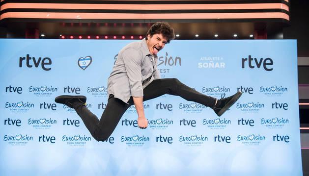 Miki Núñez, tras ser elegido para Eurovisión.