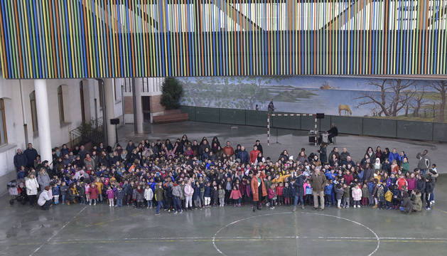 El colegio San Francisco estrena, por fin, patio cubierto