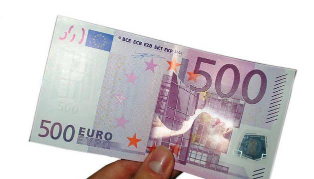 Imagen de un billete de 500€.