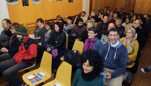 Cerca de sesenta personas acudieron a Burgui para participar en la jornada.
