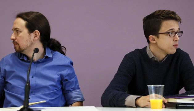 Errejón e Iglesias, en el Consejo Ciudadano de 2016.