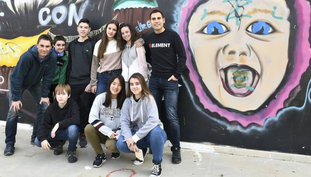 Los alumnos de 3º de ESO de la ikastola de Estella que han viajado hasta Chipre con el programa europeo Erasmus+.