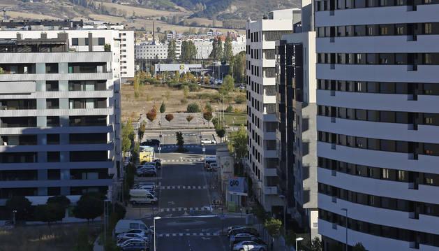 Vista del barrio de Erripagaña, en el que Burlada venderá una parcela.