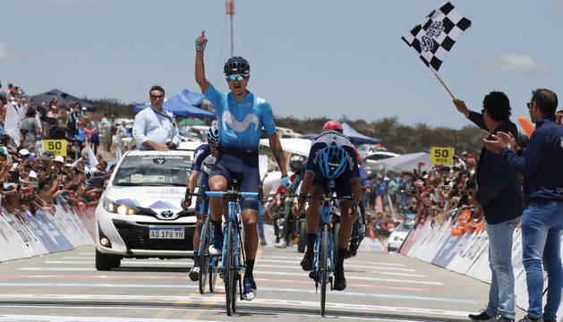 Anacona (Movistar) golpea en el Alto Colorado y se pone líder en la Vuelta a San Juan