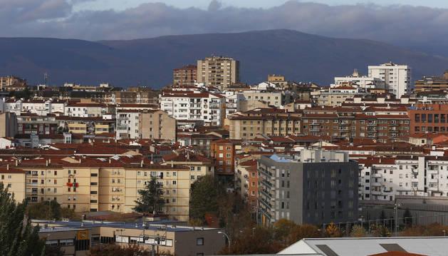 Foto del barrio de la Milagrosa, con la calle Blas de Laserna en primer plano.
