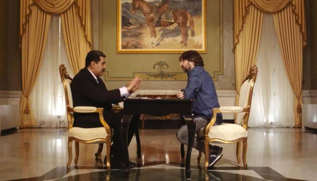 Foto de Nicolás Maduro, en una entrevista con Jordi Évole.