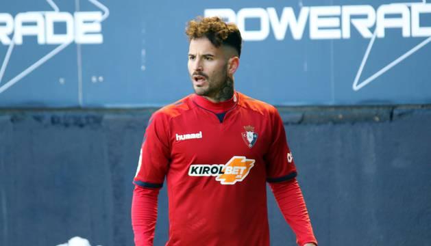 Rubén García, goleador rojillo contra el Granada.