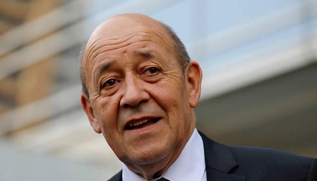 El ministro francés de Exteriores, Jean-Yves Le Drian.