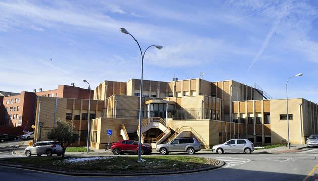 Vista del centro de salud de Tafalla donde se quiere implantar el servicio de urgencias comarcal.