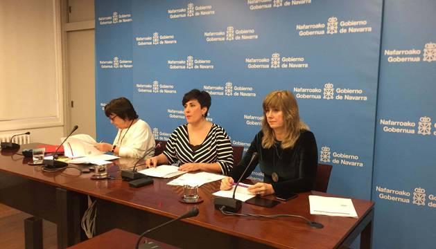 Las consejeras Beaumont, María Solana y Ana Ollo.