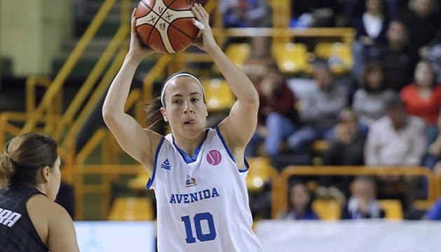 María Asurmendi, en el partido contra el Carolo Basket.