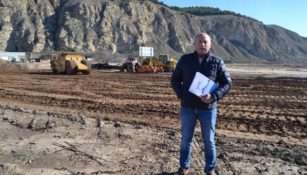 Carlos Lecea Hernández, de Ecoytec Aguas, uno de los promotores del polígono de La Landa de Azagra.