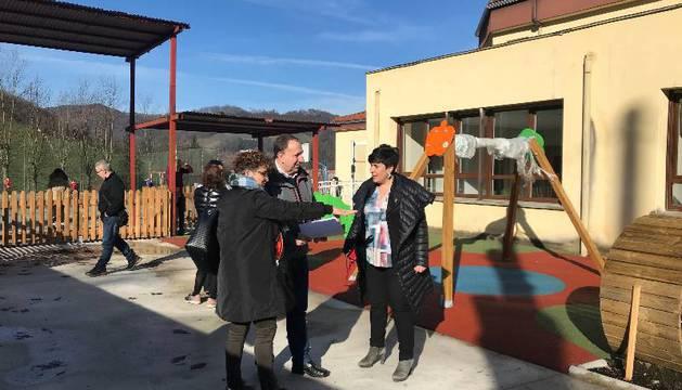 La consejera María Solana en la visita que realizó el viernes al centro infantil.