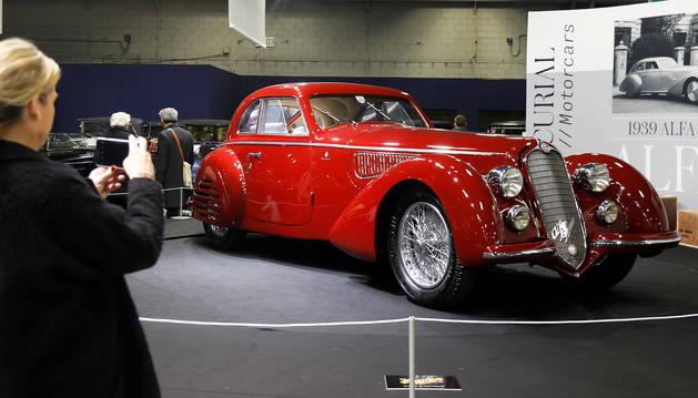 Imagen dle Alfa Romeo 8C 2900B Touring Berlinetta  de 1939 subastado en París.