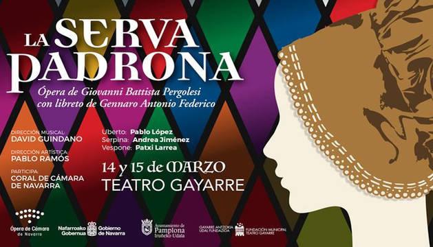 Cartel de la ópera 'La serva padrona'.