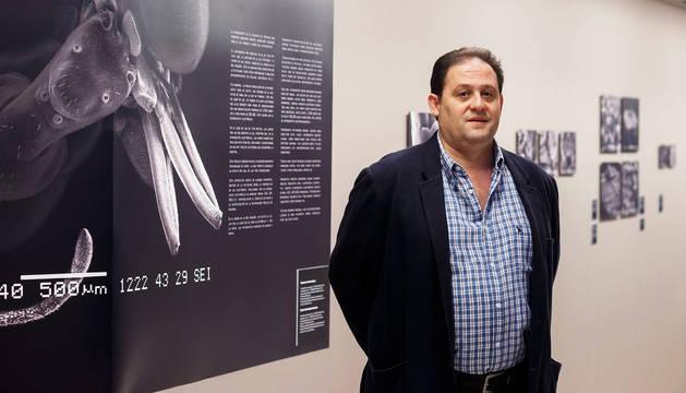 José Javier Vesperinas Oroz, autor de las imágenes, de la muestra 'El ojo electrónico'.