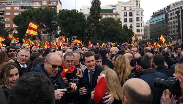 Foto del presidente del PP, Pablo Casado.