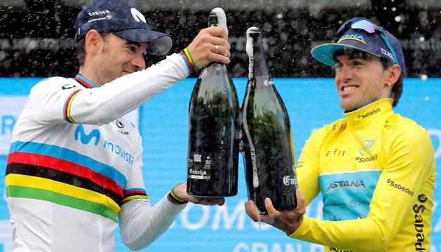 Valverde e Izaguirre, en el podio.