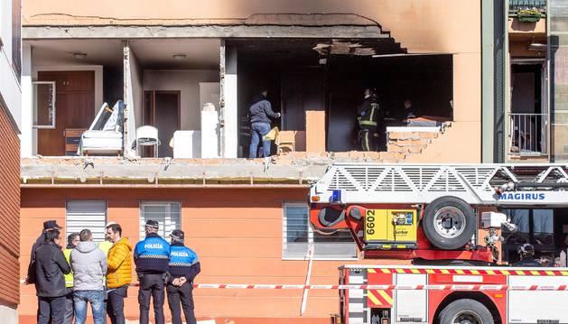 Foto de un hombre ha fallecido en una explosión de gas ocurrida en una vivienda ubicada en la primera planta de un edificio en el barrio de San Juan Bautista de Burgos.