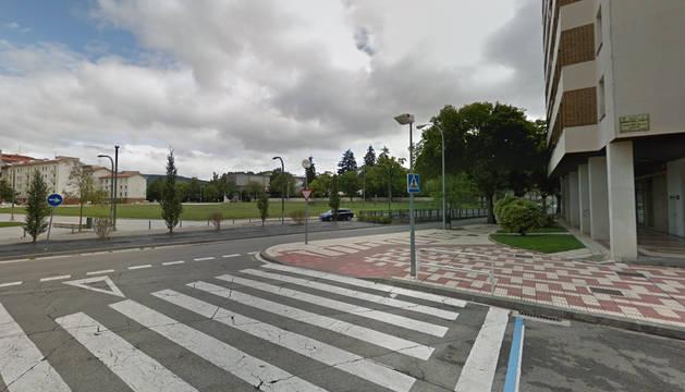 Foto del cruce de las calles Monasterio de Zilbeti y San Roque.