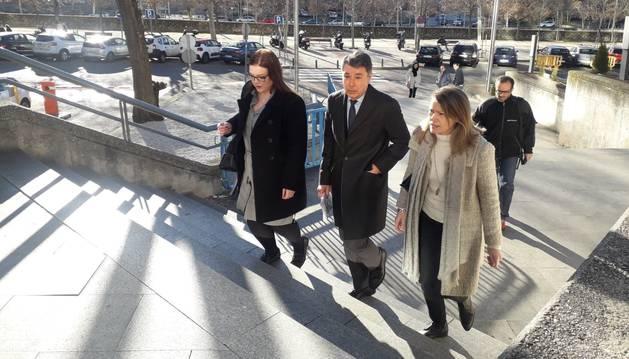 Ignacio González, a su llegada al juicio sobre espionaje político: