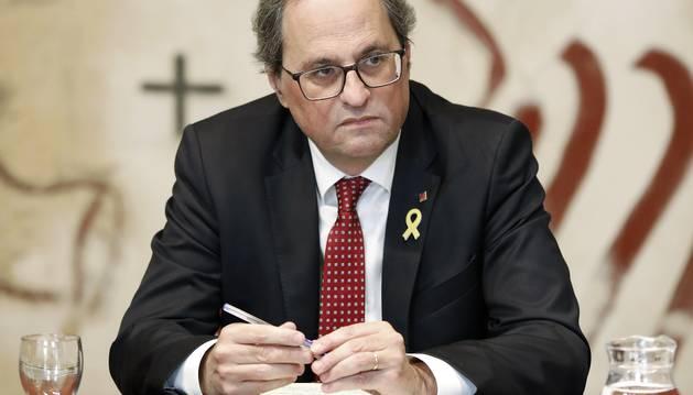 Foto del presidente de la Generalitat, Quim Torra.